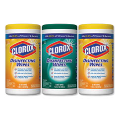 Disinfecting Wipes, 7x8, Fresh Scent/Citrus Blend, 75/Canister, 3/PK, 4 Packs/CT