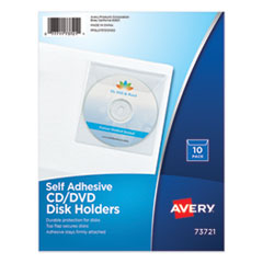 Self-Adhesive Media Pockets, 10/Pack