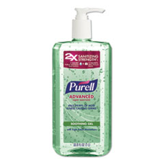 Advanced Hand Sanitizer Soothing Gel, Fresh Scent with Aloe and Vitamin E, 1 L Pump Bottle