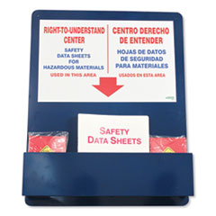 "Bilingual ""Right-To-Understand"" SDS Center, 25w x 5.2d x 30h, Blue/White/Red"