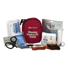 "Bleeding Control Kit, 5"" x 3.5"" x 7"", 13 Pieces, Nylon Case"