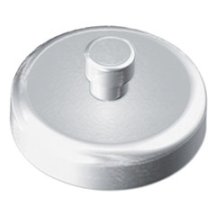 "Mounting Magnets for Glove and Towel Dispensers, 1.5"" Diameter, White/Silver, 4/Pack"