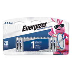 Ultimate Lithium AAA Batteries, 1.5V, 12/Pack