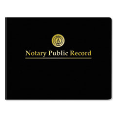 Notary Public Record Book, Black Cover, 8.5 x 11, 63 Pages