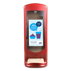 Xpressnap Stand Napkin Dispenser, 9 1/4 x 9 1/4 x 24 1/2, Red