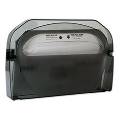 "Toilet Seat Cover Dispenser, 16"" x 3.125"" x 11.5"", Smoke, 12/Carton"
