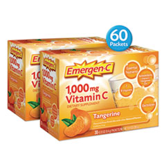 Emergen-C Immune Defense Drink Mix, Tangerine, 0.32 Oz Packet, 60/Pack