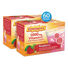 Emergen-C Immune Defense Drink Mix, Raspberry, 0.32 Oz Packet, 60/Pack