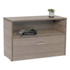 Linea Italia Urban 36  Credenza, Bottom Pedestal, 35.25W X 15.25D X 23.75H, Natural Walnut