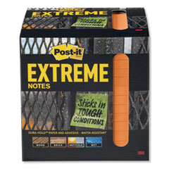 Post-It  Extreme Noteswater-Resistant Self-Stick Notes, Orange, 3  X 3 , 45 Sheets, 12/Pack
