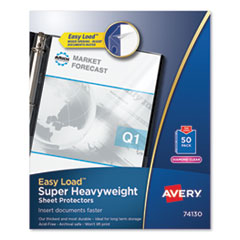 Top-Load Poly Sheet Protector, Super Heavy Gauge, Letter, Diamond Clear, 50/Box