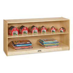 Adjustable Mobile Straight-Shelves, Toddler, 48w x 15d x 24.5h, Birch