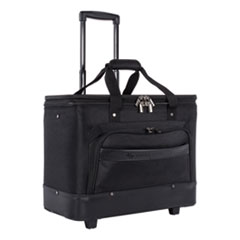 "Litigation Business Case on Wheels, 11"" x 19"" x 16"", Black"