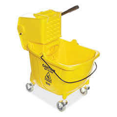 Pro-Pac Side-Squeeze Wringer/Bucket Combo, 8.75gal, Yellow