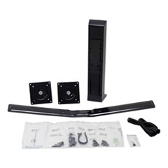 "Monitor Riser, Dual Monitor Kit, 30 Degrees Tilt, Up to 24"", 16 to 28 lbs, Black"