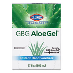 GBG AloeGel Instant Hand Sanitizer, 800 mL Bag-in-a-Box, 12/Carton
