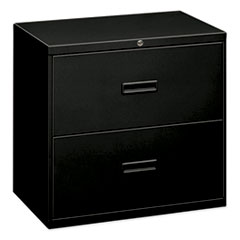 400 Series Two-Drawer Lateral File, 30w x 18d x 28h, Black