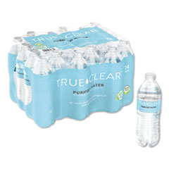 Purified Bottled Water, 16.9 oz Bottle, 24 Bottles/Carton