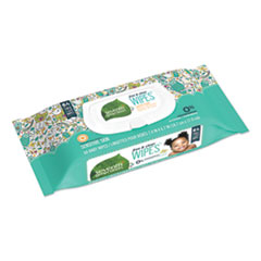 Free & Clear Baby Wipes, Unscented, White, 64/Pack