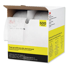 "Easy Trap Duster, 5"" x 125 ft, White, 2 250 Sheet Rolls/Carton"