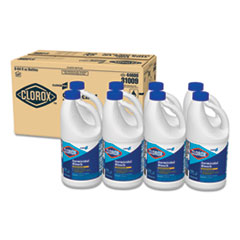 Concentrated Germicidal Bleach, Regular, 64oz Bottle, 8/Carton