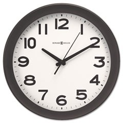 "Kenwick Wall Clock, 13.5"" Overall Diameter, Black Case, 1 AA (sold separately)"