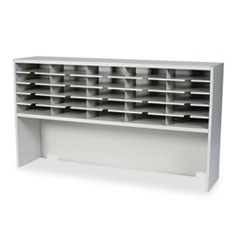 Kwik-File Mailflow-To-Go 1 Tier Sorter w/Riser, 25 Pockets, 60 x 13 1/4 x 33 1/4