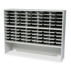 Kwik-File Mailflow-To-Go 2 Tier Sorter w/Riser, 50 Pockets, 60 x 13 1/4 x 46 1/4