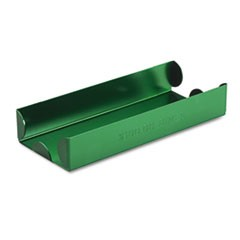 Mmf Industries Rolled Coin Aluminum Tray W/Denomination & Quantity Etched On Side, Green