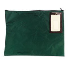 Cash Transit Sack, Nylon, 18 x 14, Dark Green