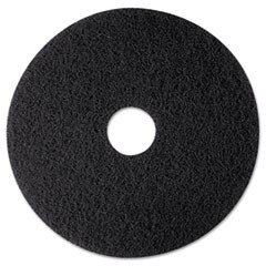 "High Productivity Floor Pad 7300, 12"" Diameter, Black, 5/Carton"