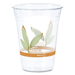 Bare Eco-Forward RPET Cold Cups, 16-18 oz, Clear, 50/Pack, 1000/Carton