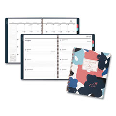 At-A-Glance Badge Floral Academic Planner, 11 X 8 1/2, 2019-2020