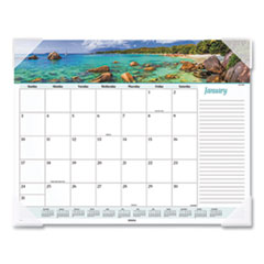 At-A-Glance Seascape Panoramic Desk Pad, 22 X 17, 2020