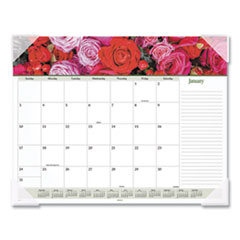 At-A-Glance Floral Panoramic Desk Pad, 22 X 17, Floral, 2020