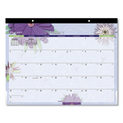 At-A-Glance Paper Flowers Desk Pad, 22 X 17, 2020