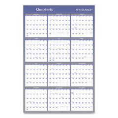 Vertical/Horizontal Erasable Wall Planner, 24 x 36, 2021
