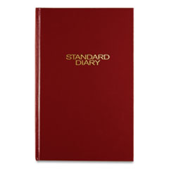 Standard Diary Daily Diary, Recycled, Red, 7 11/16 x 12 1/8, 2016