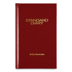 Standard Diary Recycled Daily Reminder, Red, 4 3/16 x 6 1/2, 2016