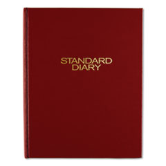 Standard Diary Daily Diary, Recycled, Red, 7 1/2 x 9 7/16, 2016