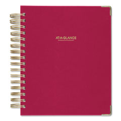 Harmony Daily Hardcover Planner, 8 3/4 x 6 7/8, Berry, 2020