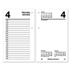 Desk Calendar Refill with Tabs, 6 x 3.5, White, 2021