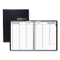Recycled Professional Weekly Planner, 15-Min Appointments, 11 x 8.5, Black, 2021