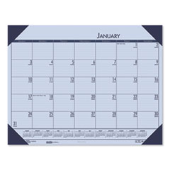 Recycled EcoTones Sunset Orchid Monthly Desk Pad Calendar, 22 x 17, 2021