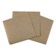 "Beverage Napkins, 1-Ply, 9.5"" x 9.5"", Kraft, 500/Pack, 8 Packs/Carton"