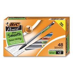 Xtra Smooth Mechanical Pencil, 0.7 mm, HB (#2.5), Black Lead, Clear Barrel, 40/Pack