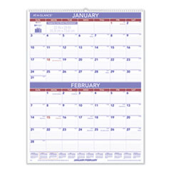 Two-Month Wall Calendar, 22 x 29, 2021