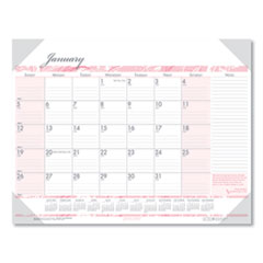 Recycled Breast Cancer Awareness Monthly Desk Pad Calendar, 18.5 x 13, 2021