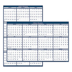 Recycled Poster Style Reversible/Erasable Yearly Wall Calendar, 32 x 48, 2021