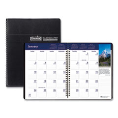 Recycled Earthscapes Full-Color Monthly Planner, 11 x 8.5, Black, 2020-2022